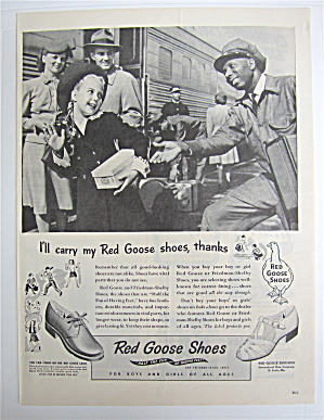 1945 Red Goose Shoes with Little Girl & Porter  (Image1)