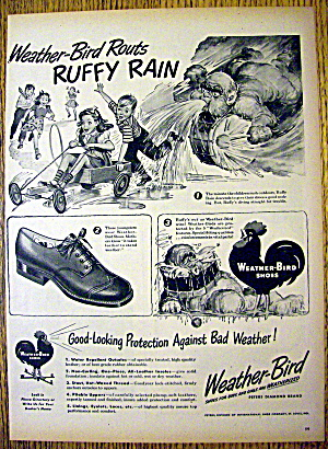 1945 Weather Bird Shoes with Ruffy Rain & Children (Image1)