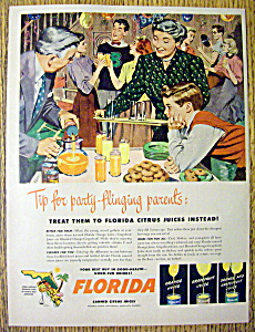 Vintage Ad: 1949 Florida Canned Orange Juice