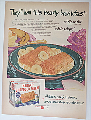 1945 Nabisco Shredded Wheat With Bowl Of Cereal