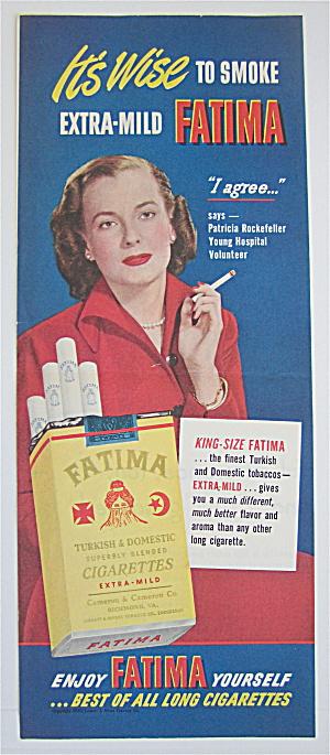 1950 Fatima Cigarettes With Patricia Rockefeller (Image1)