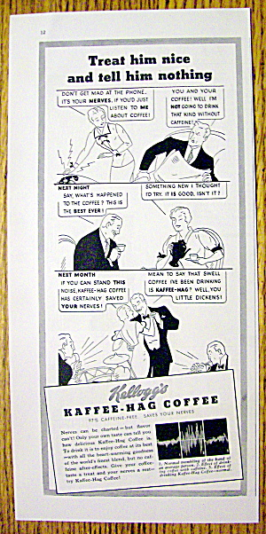 1937 Kellogg's Kaffee Hag Coffee