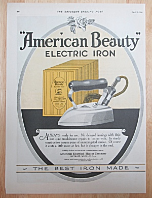 1924 American Beauty Electric Iron with Best Iron Made (Image1)