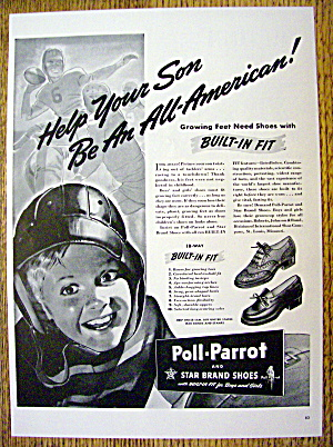 1942 Poll Parrot Shoes with Little Boy Wearing Helmet (Image1)