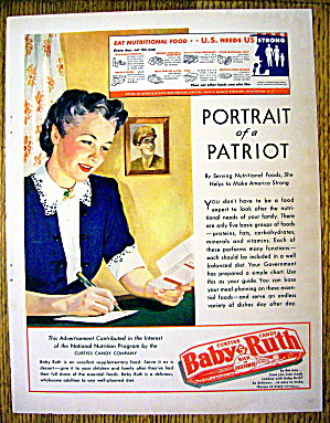 1943 Curtiss Baby Ruth with Woman Writing Soldier (Image1)