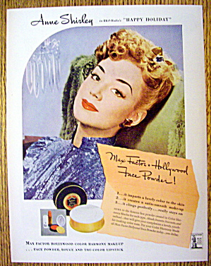 1944 Max Factor with Anne Shirley (Image1)