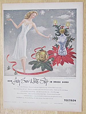 1947 Textron Slips with Woman in Lacy Snow White Slip (Image1)
