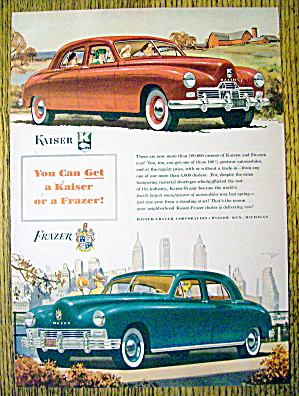1947 Kaiser And Frazer Cars