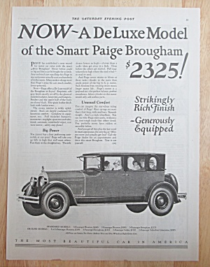 1924 Paige Automobile With The Paige Brougham