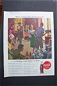 1944 Coca Cola (Coke) with People Having a Party (Image1)