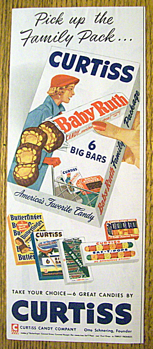 1954 Curtiss Candy With Baby Ruth, Butterfinger & More