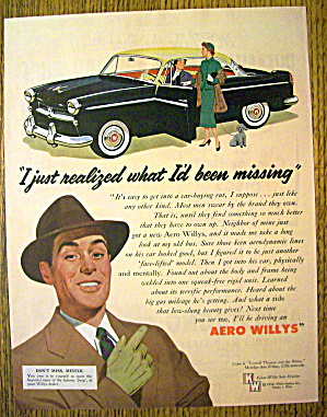 1954 Aero Willys With Two Women Talking