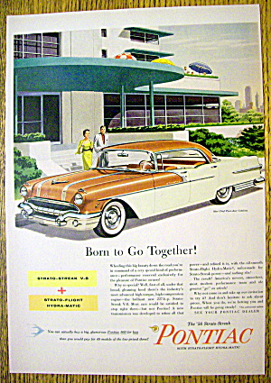 1956 Pontiac With The Star Chief Four Door Catalina