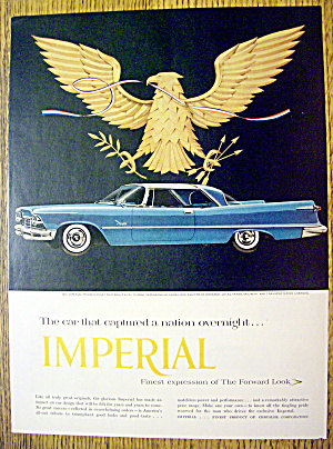 1957 Imperial with the Side View of a Blue Imperial (Image1)