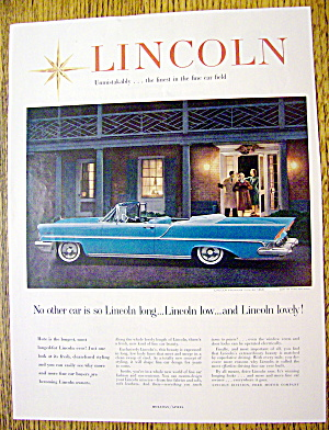 1957 Lincoln With The Premiere Convertible