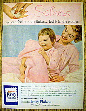 1959 Ivory Flakes with Woman & Baby with Blanket (Image1)