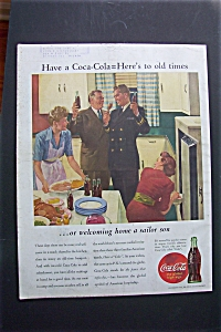 1944 Coca Cola (Coke) with a Sailor and His Family (Image1)