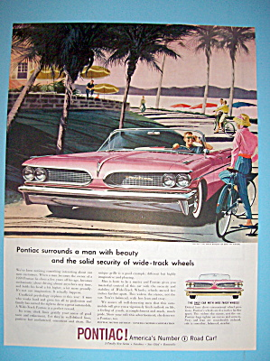 1959 Pontiac (Wide Track) With Woman & Man Talking