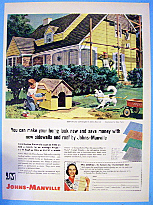 1959 Johns Manville Sidewalls with Boy Siding Dog House (Image1)