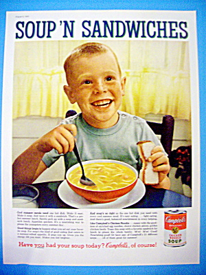 1960 Campbell's Chicken Noodle Soup With Little Boy