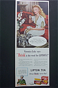 Vintage Ad: 1944 Lipton Tea With Veronica Lake