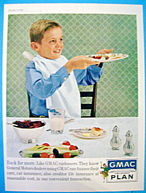 1961 GMAC Payment Plan with Boy Holding Up Dinner Plate (Image1)