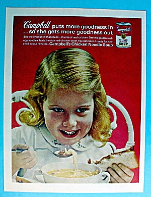 1963 Campbell's Chicken Noodle Soup W/little Girl