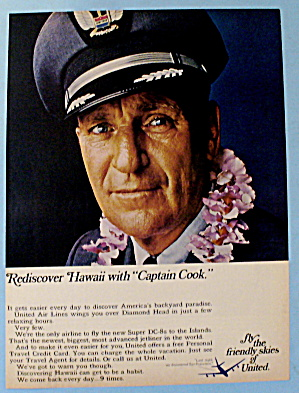 1967 United Airlines W/ Captain Cook
