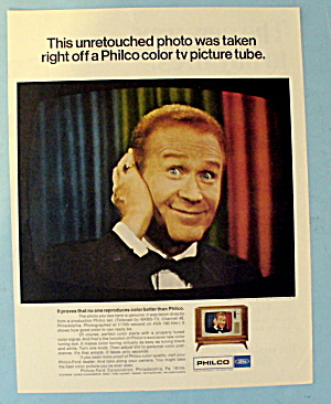 1967 Philco Color Television Picture Tube W/red Buttons