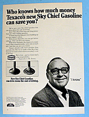 1968 Texaco Sky Chief Gasoline W/ Jack Benny