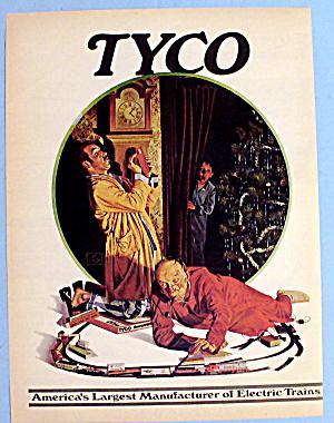 1972 Tyco Electric Train  w/ Boy Watching Man (Image1)