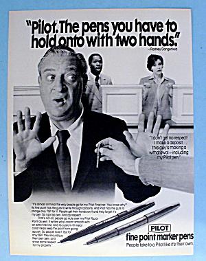 1981 Pilot Pens w/ Rodney Dangerfield (Image1)