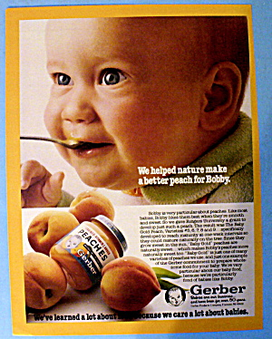 1981 Gerber Peaches Baby Food w/ Baby Bobby Eating (Image1)
