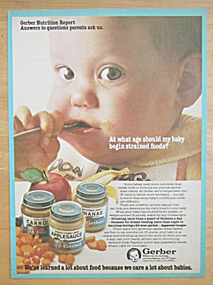 1981 Gerber Strained Foods W/ Baby Eating