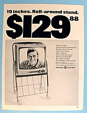 1966 General Electric Adventurer Iii Tv W/andy Griffith