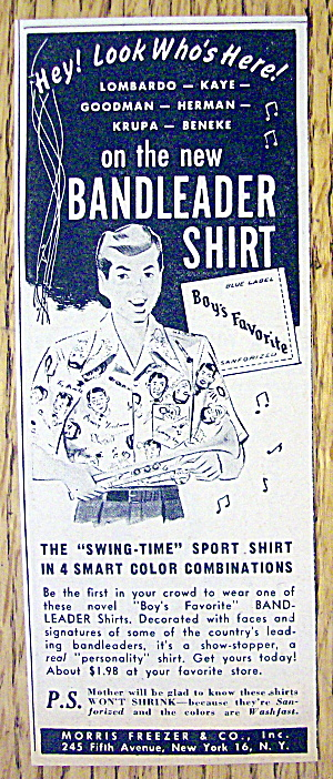 1949 Bandleader Shirts with a Boy Wearing the Shirt (Image1)