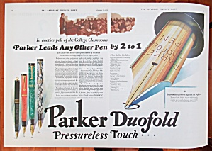 1929 Parker Pens With Duofold Pen