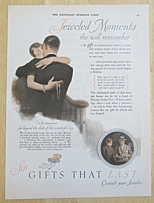 1926 Jeweled Moments with Woman Kissing Man  (Image1)
