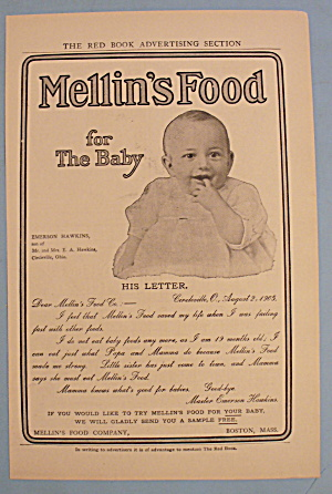 1905 Mellins Baby Food W/ Baby Smiling