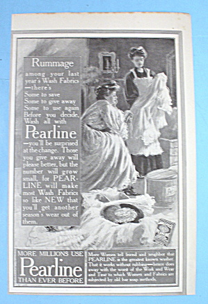 1907 Pearline W/ Two Women Looking Through Clothes