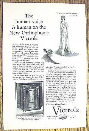 1927 Victrola With The Orthophonic Victrola