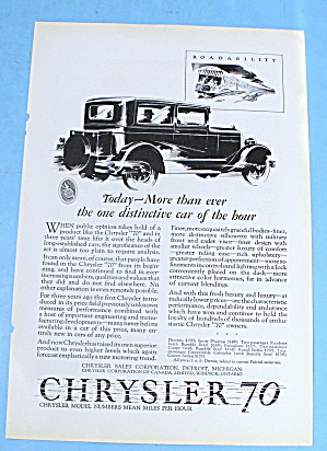 1927 Chrysler 70 W/ Beauty And Luxury