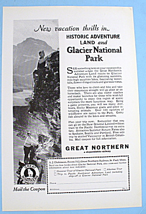 1927 Great Northern With Glacier National Park