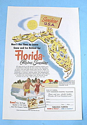 1952 Florida with the Glorious Sunshine State (Image1)