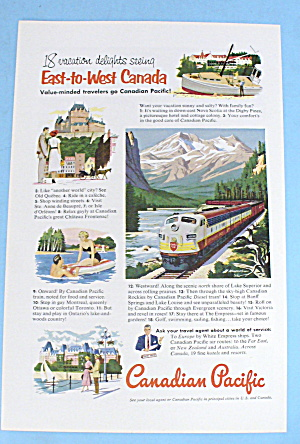 1952 Canadian Pacific With 18 Vacation Delights