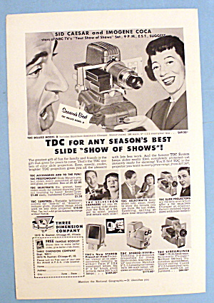 1953 Three Dimension Co. W/ Sid Caesar And Imogene Coca
