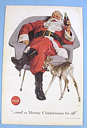 1956 Coca Cola (Coke) with Santa and Deer (Image1)