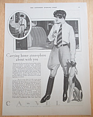 1928 Ca-vel Car Covers With Woman & Her Dog