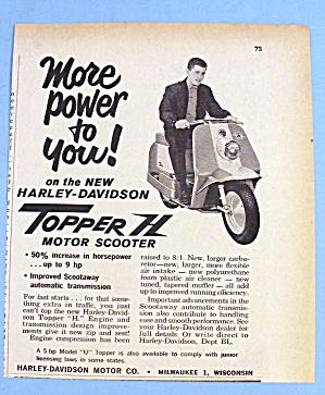 1961 Harley Davidson Topper H Motor Scooter w/Man (Image1)