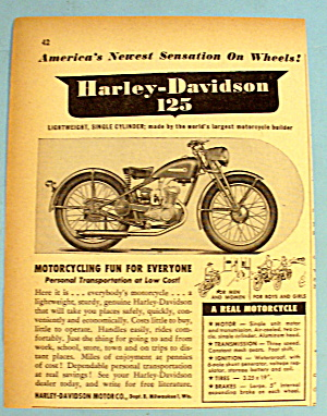 1948 Harley Davidson With Lightweight 125